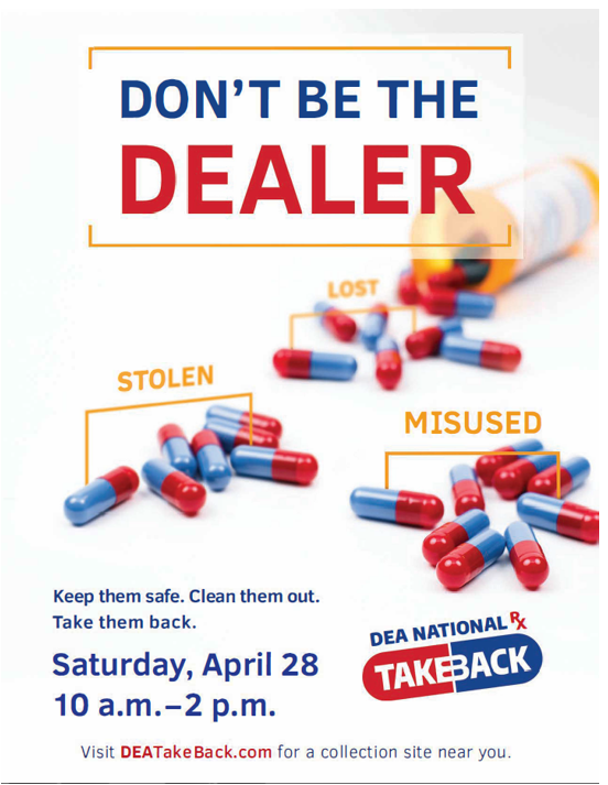 National Drug Take Back Day April 28th