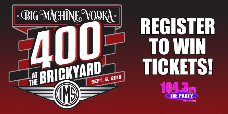 Register to Win Brickyard Tickets