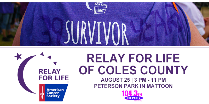 Feature: https://www.1043theparty.com/2018/08/02/relay-for-life-of-coles-county-2018/