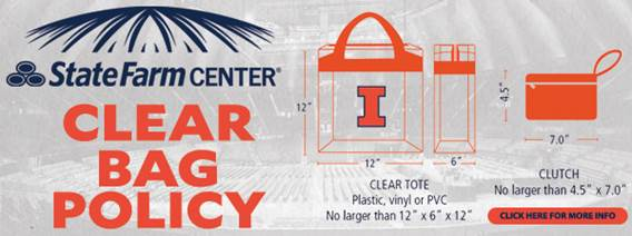 State Farm Center Adopts Clear Bag Policy