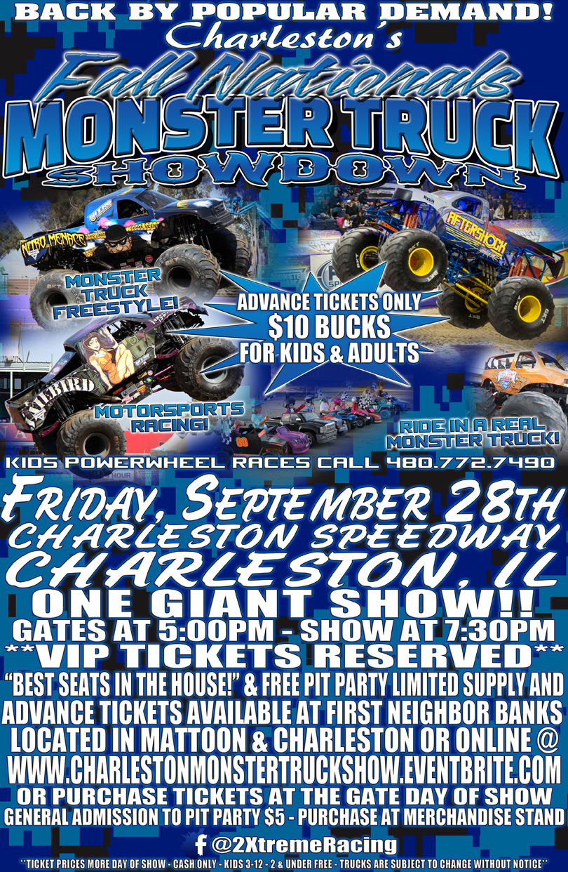 Monster Trucks on Display in Charleston and Mattoon