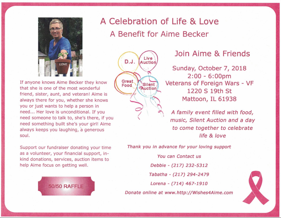 Benefit for Aime Becker
