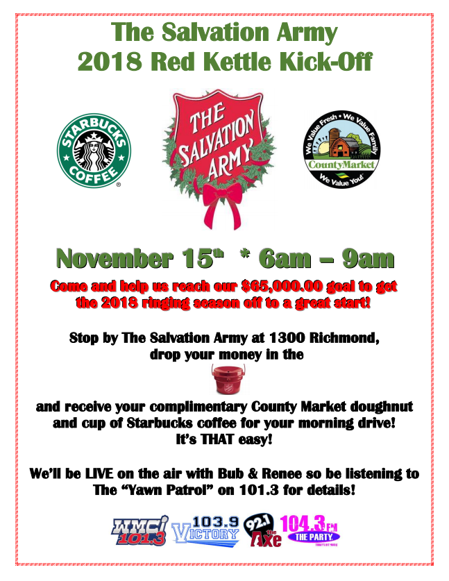 Salvation Army Red Kettle Kick-Off