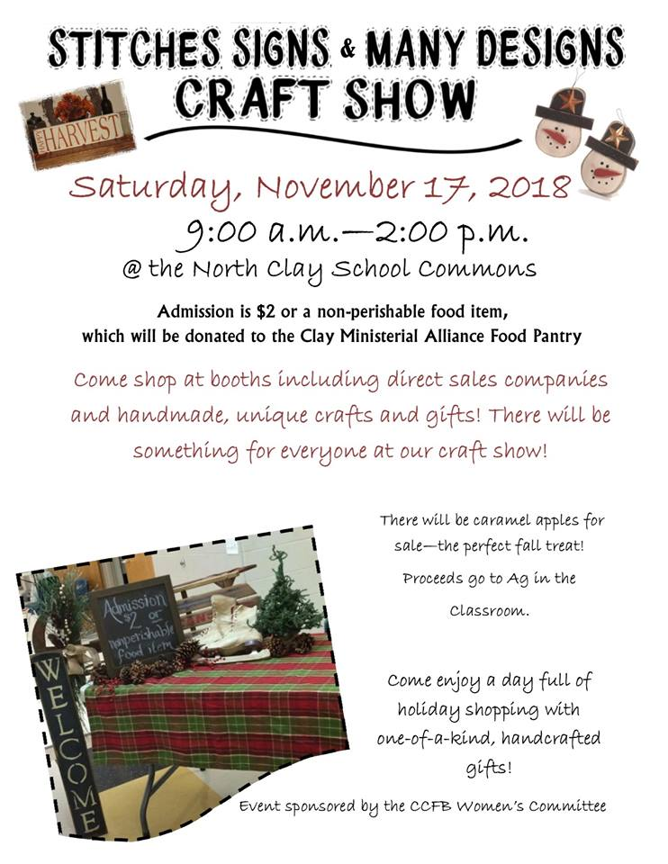 Stitches, Signs and Many Designs Craft Show