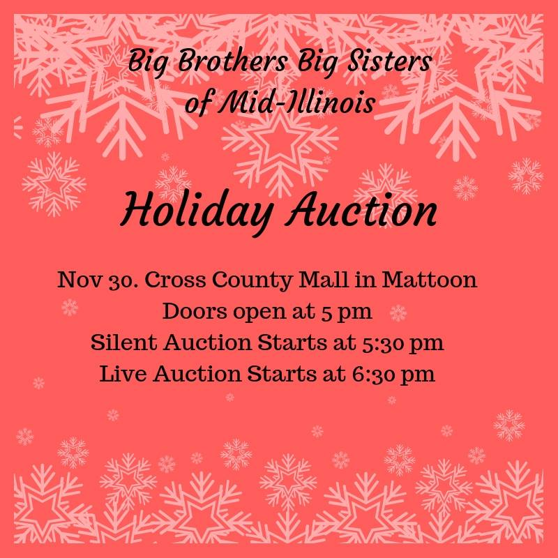 Big Brothers Big Sisters Annual Holiday Auction Tonight