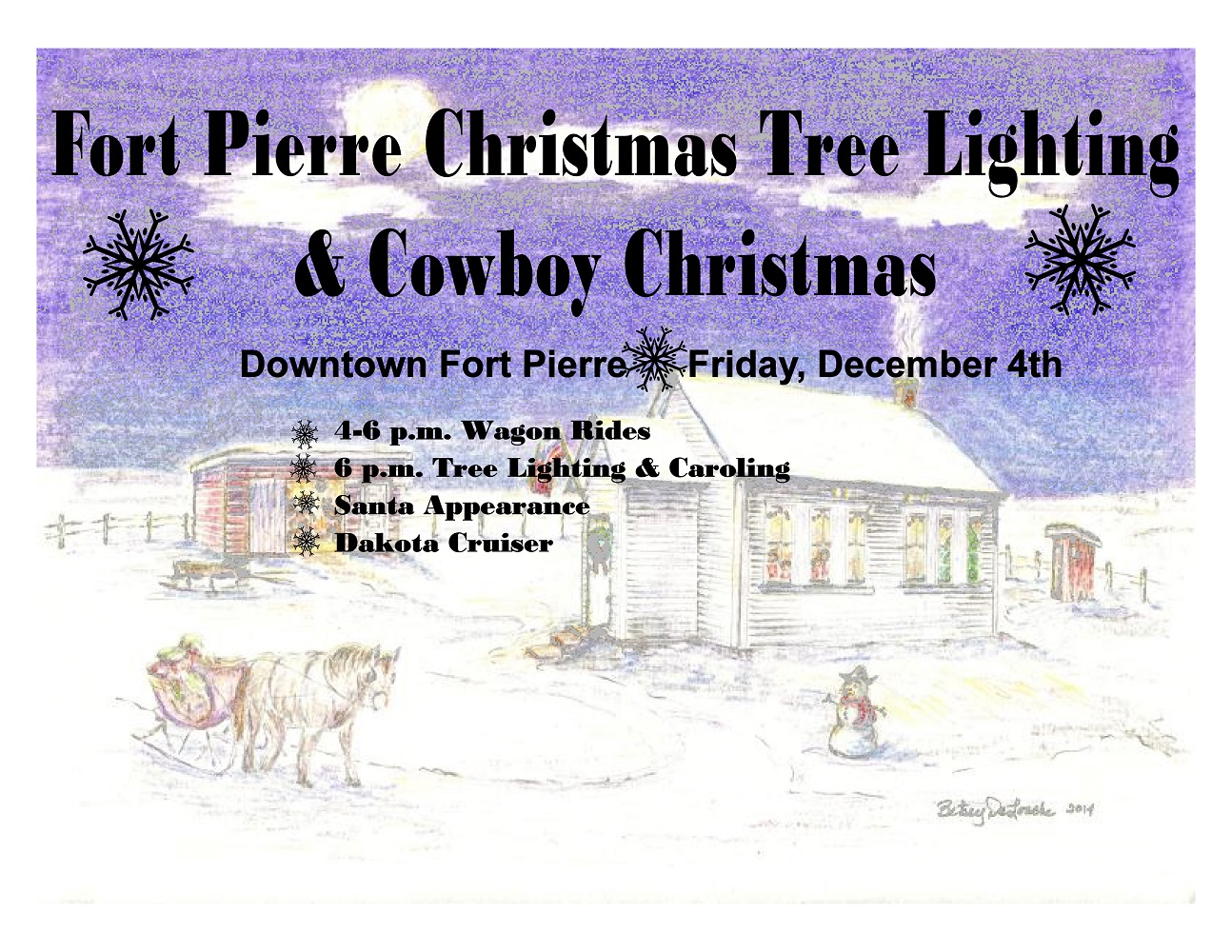 Fort Pierre Christmas Tree Lighting and Cowboy Christmas activities postponed to Dec. 4, 2020 ...