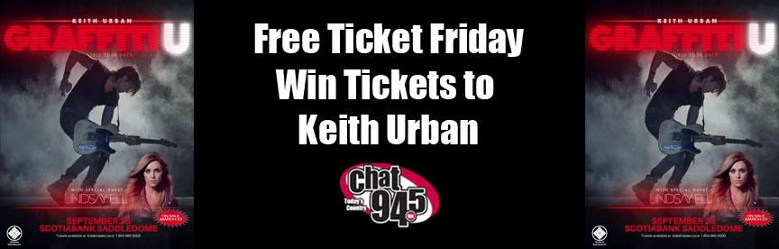 Free Ticket Friday Keith Urban