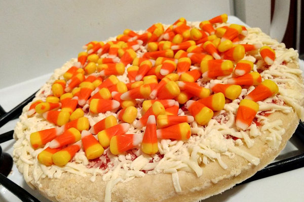 Candy Corn Pizza is a thing
