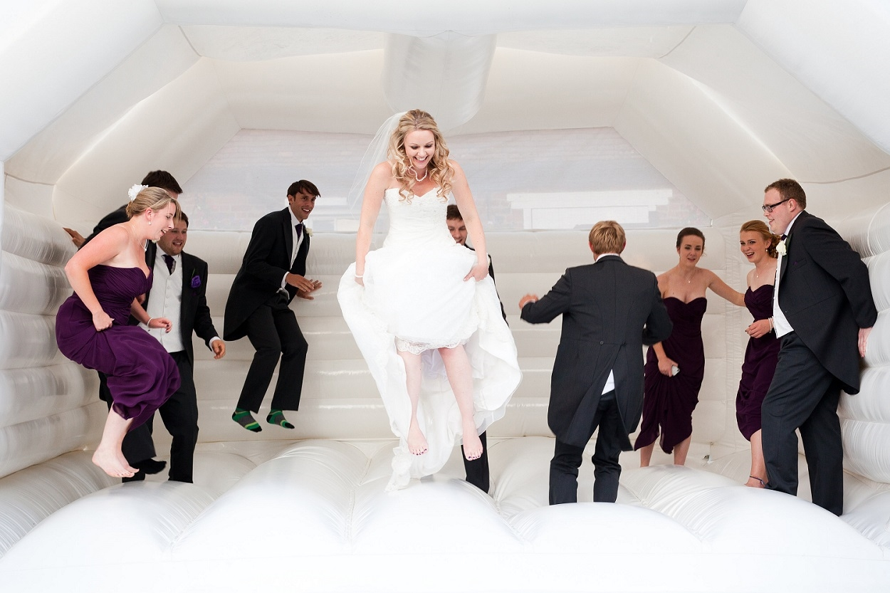 You can rent a bouncy castle for your wedding day