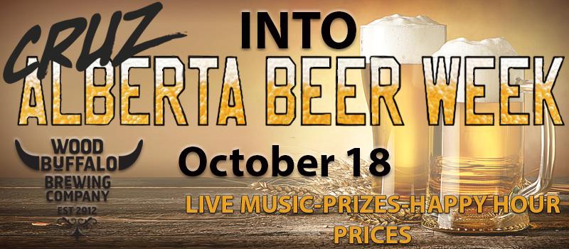 Feature: https://www.cruzradio.com/2018/10/01/cruz-into-alberta-beer-week/