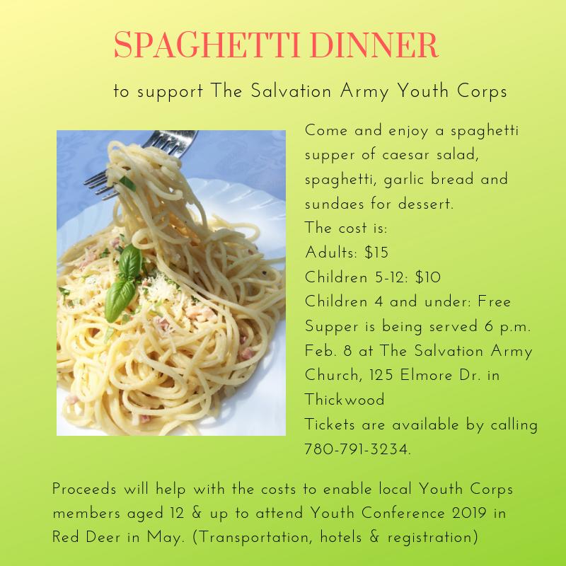 Spaghetti Dinner | 100 5 CRUZ FM