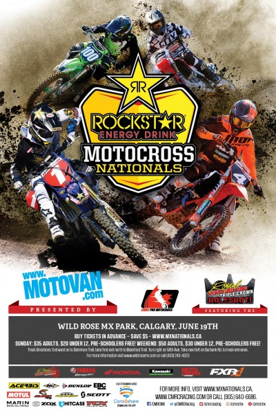 CMRC Racing brings you the 2016 Rockstar Energy Drink Motocross Nationals!