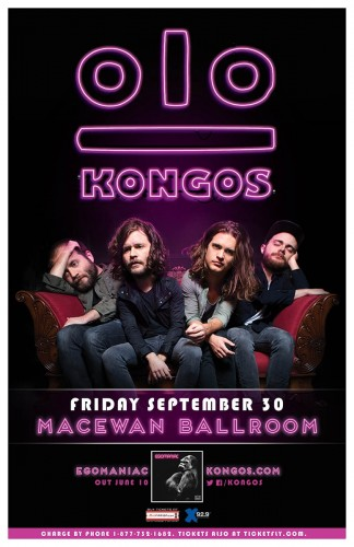 Kongos are coming back to YYC!
