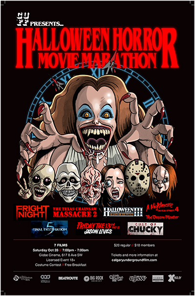 CUFF Halloween Horror Movie Marathon