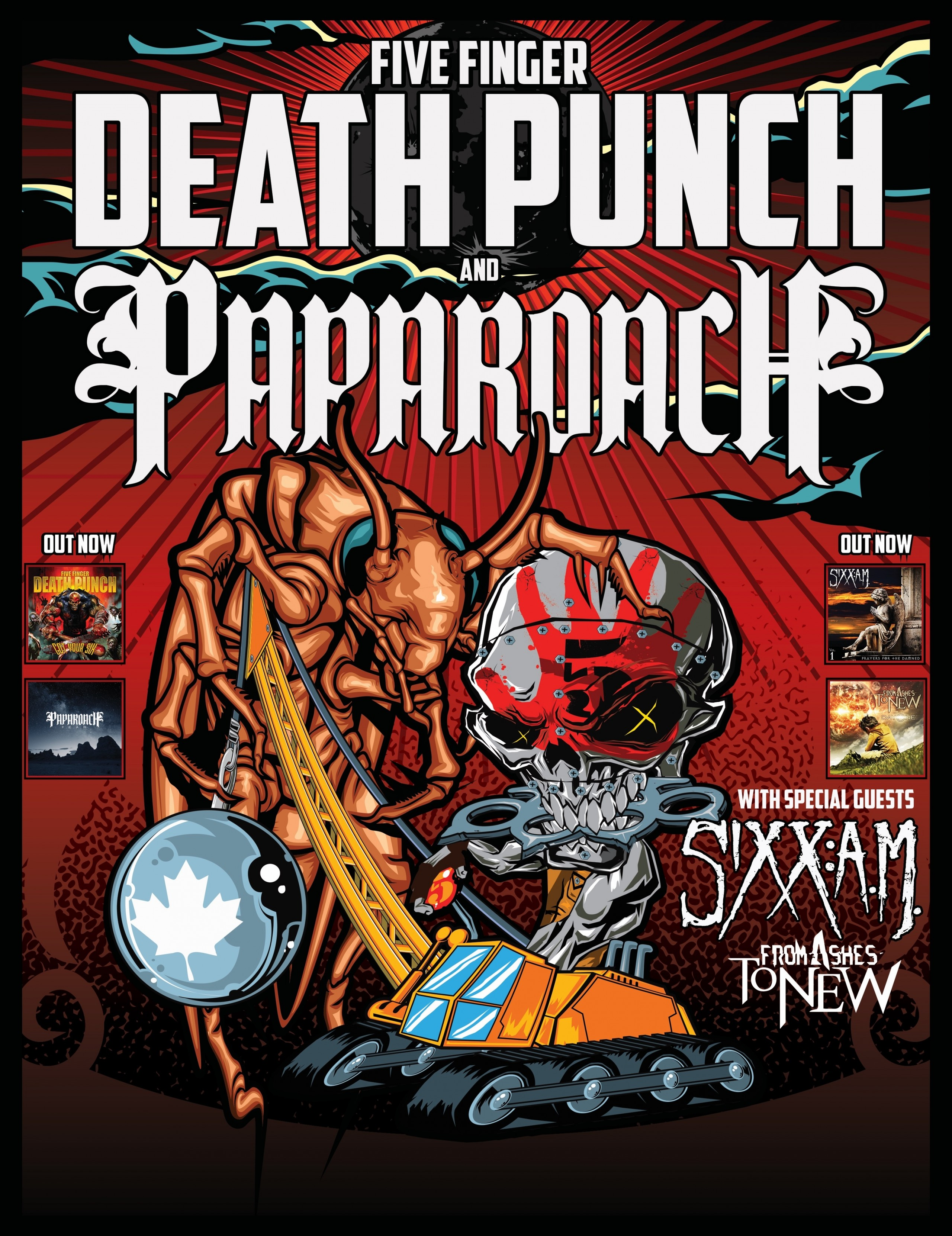 Five Finger Punch With Papa Roach