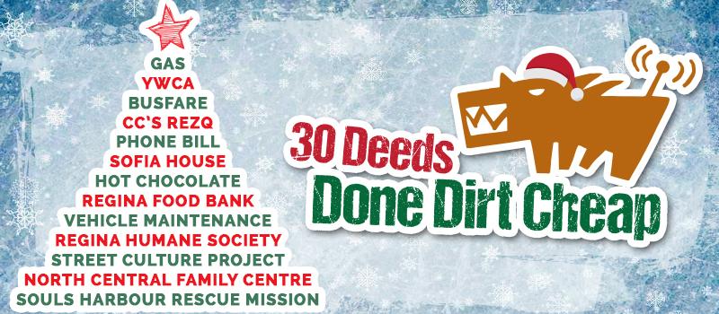 30 Deeds Done Dirt Cheap