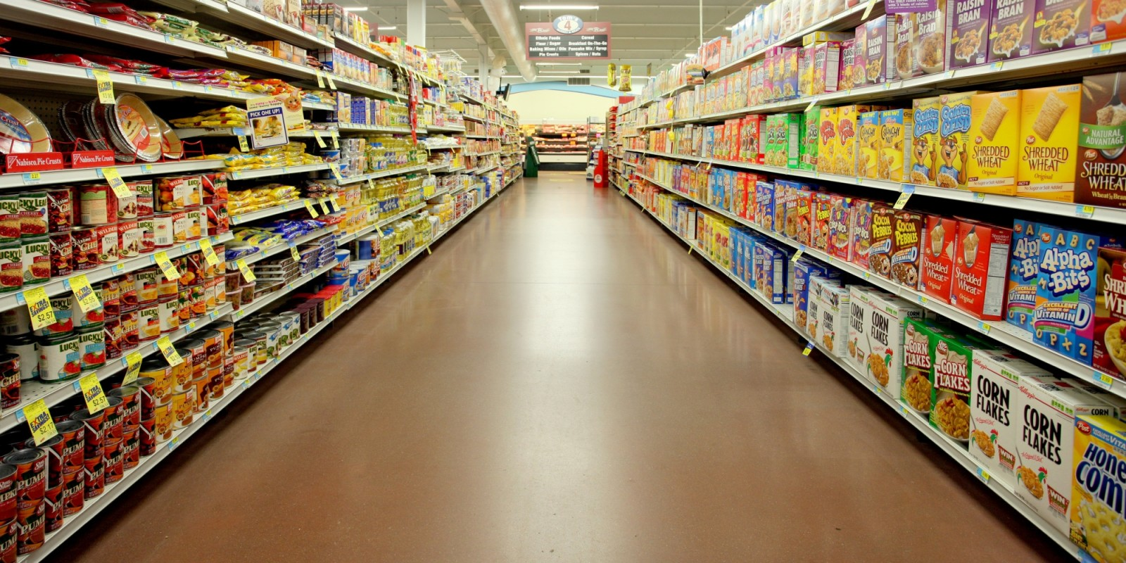 How many years could you survive inside a supermarket?