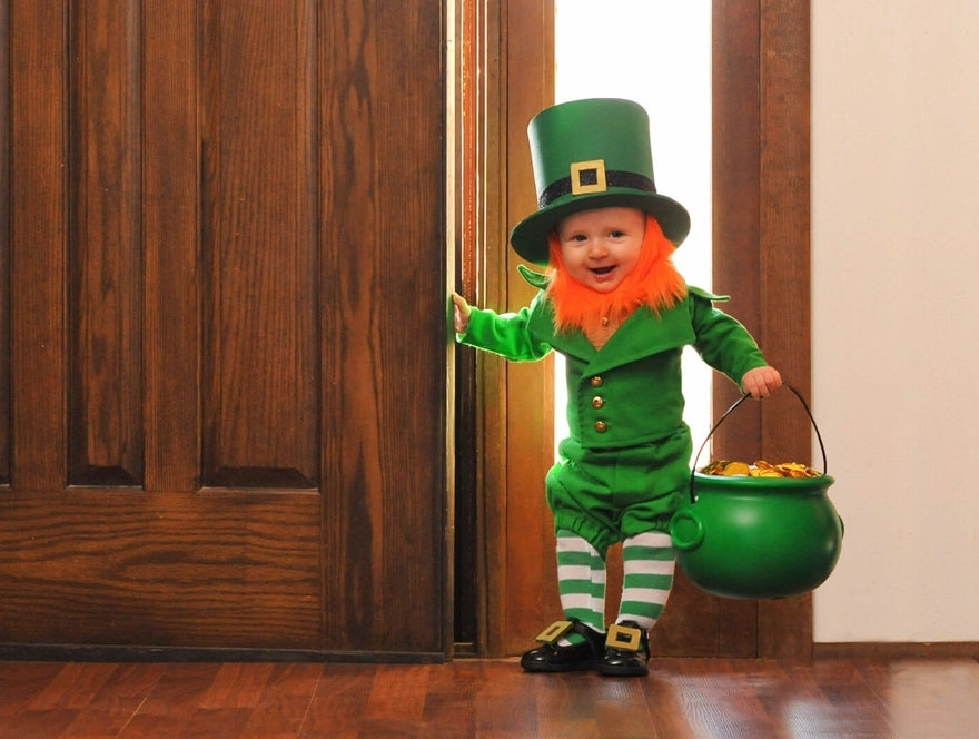 Awwwww!  A Dad turned his 6-month-old son into leprechaun for St. Patrick's Day!