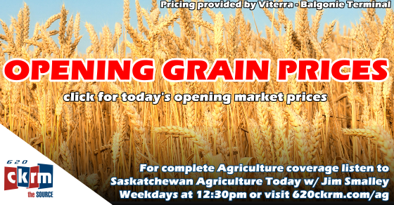 Opening grain prices Monday October 29