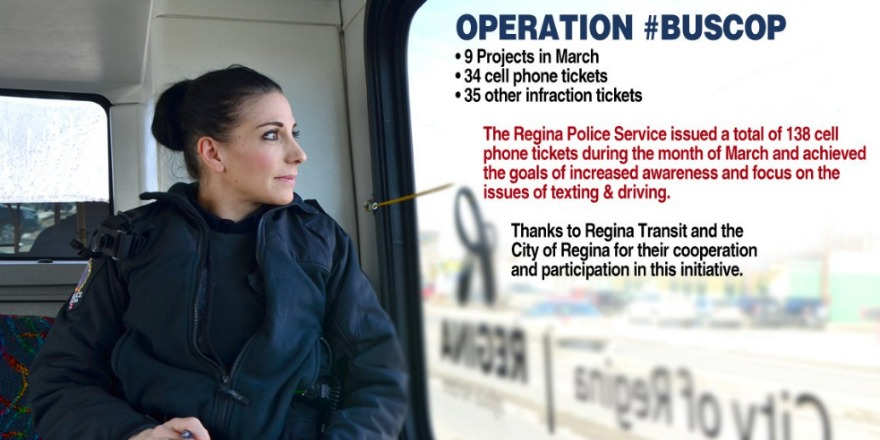 "Sixty-nine tickets handed out thanks to ""Operation Bus Cop"" in Regina"