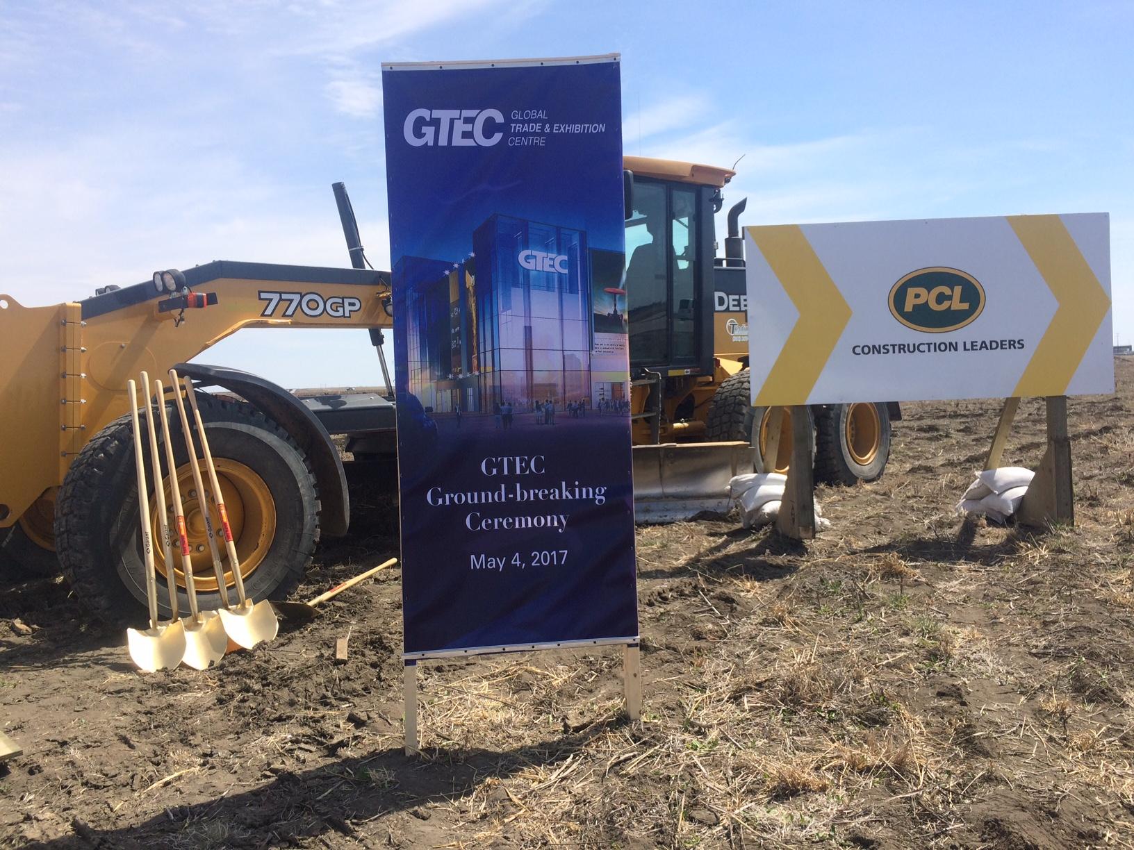 Crews break ground on new Global Trade Exhibition Centre in West Regina
