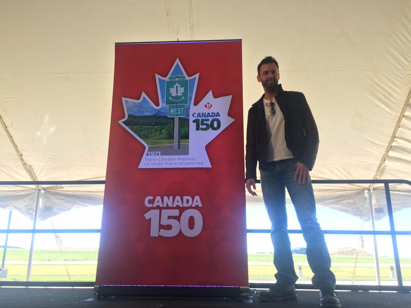 Canada 150 stamp leaves post-mark on Regina