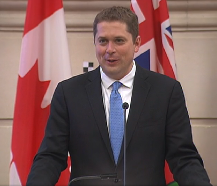 Andrew Scheer rallies the troops in his first address to the Conservative Party caucus