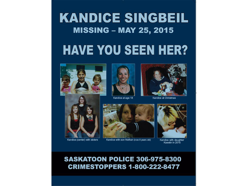Search continues for missing Saskatoon woman Kandace Singbeil