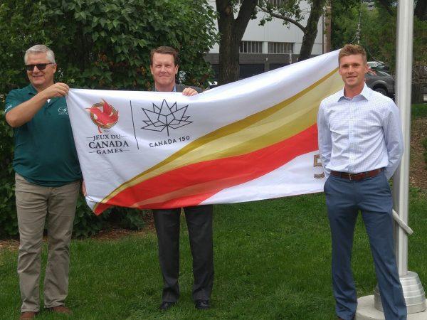 Canada Games Flag flies at Regina City Hall