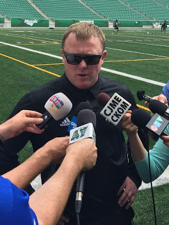 Chris Jones remaining positive as Riders get ready for Hamilton