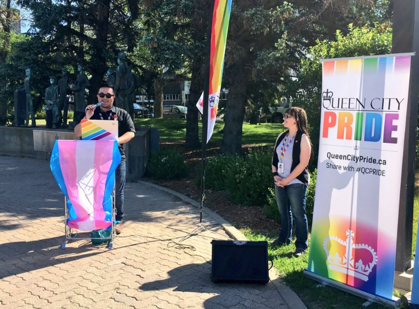 Regina Pride festivities begin with City Hall rainbow flag raising ceremony