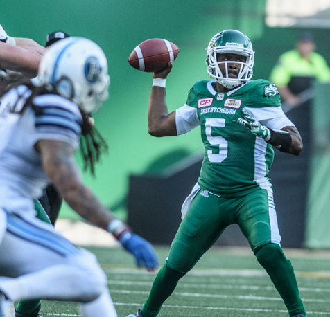 Riders win second of year beating Toronto 38-27