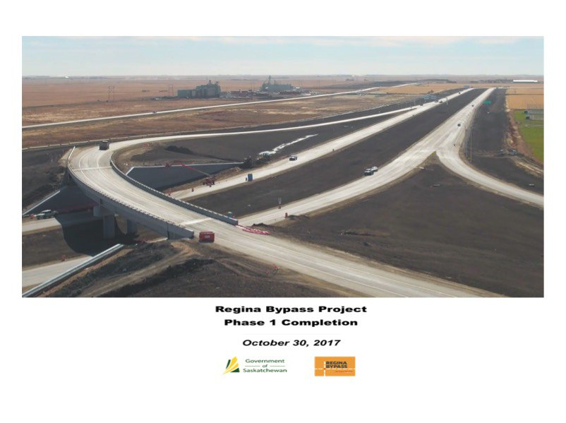 Phase 1 of Regina bypass complete