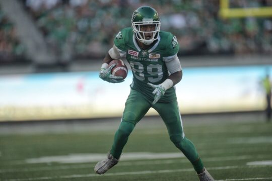 Duron Carter will start on defence for Riders Friday in Calgary