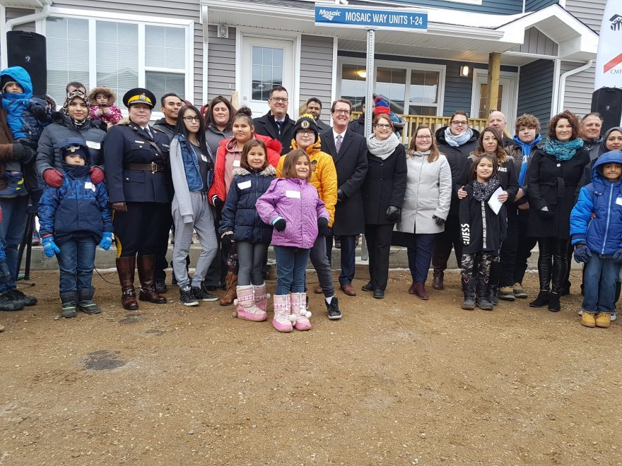 TASCAP students recognized by Habitat For Humanity Regina on Monday