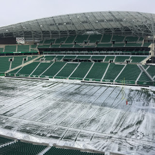 Snow poses a problem to Riders at Wednesday's practice