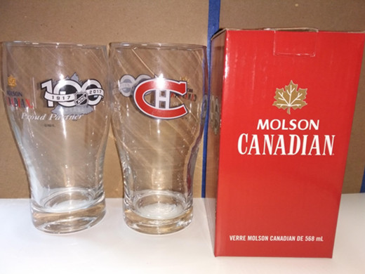 Recall issued by Molson Coors for NHL collectible beer glasses