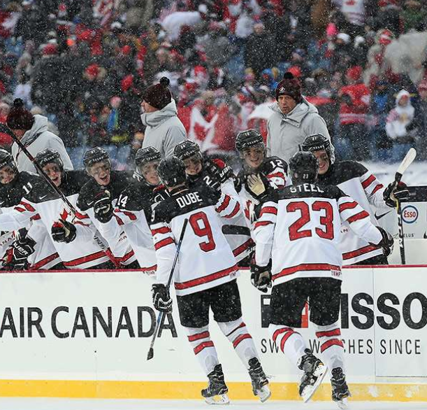 US rallies to win snowy outdoors game at World Juniors
