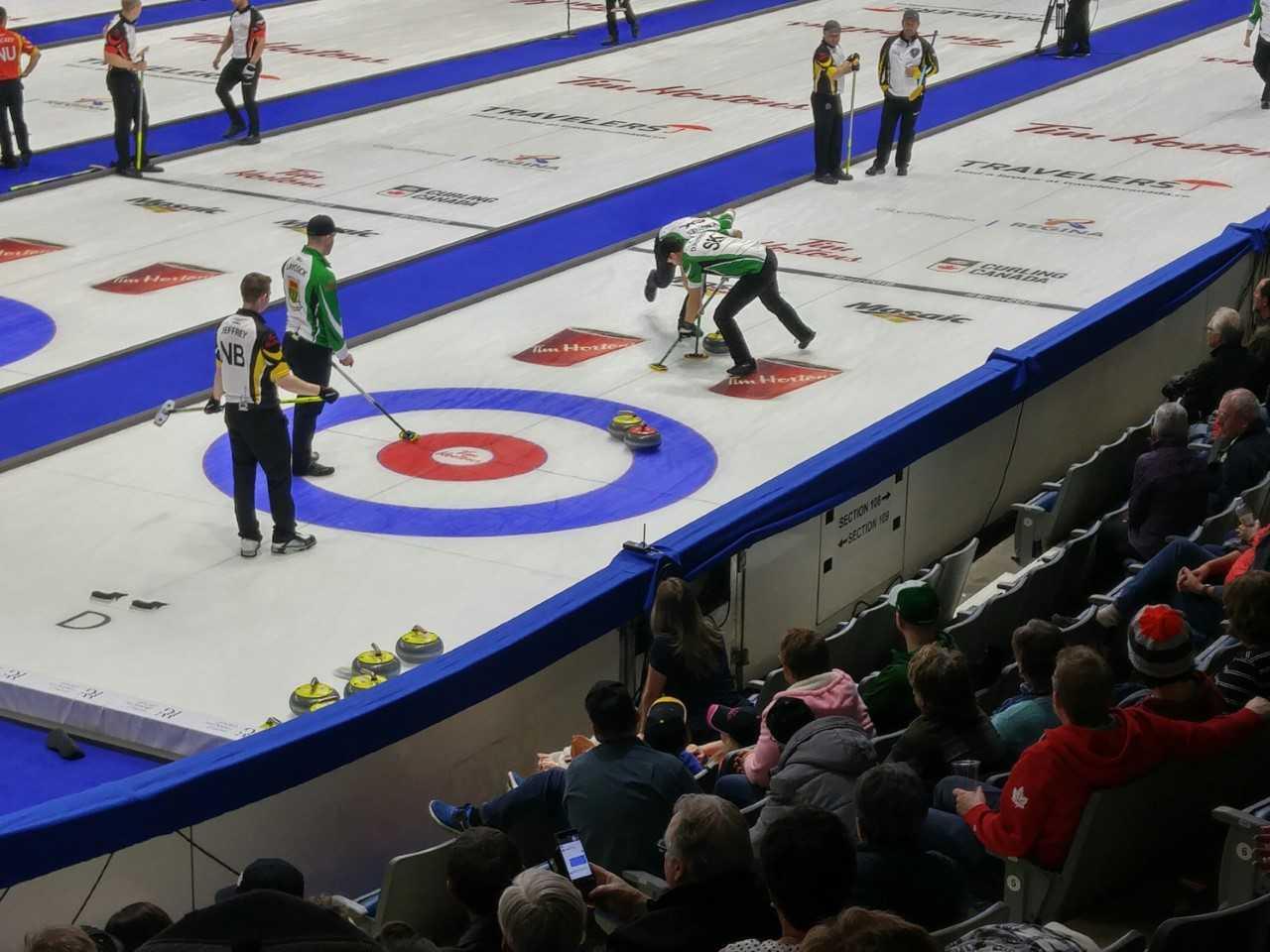 Saskatchewan gets its first win at Tim Hortons Brier