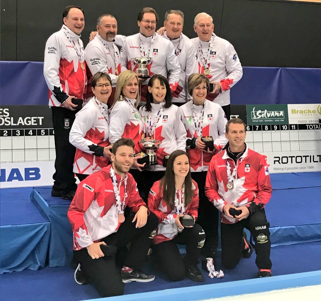 Gold and bronze for Saskatchewan curlers at world curling events in Sweden
