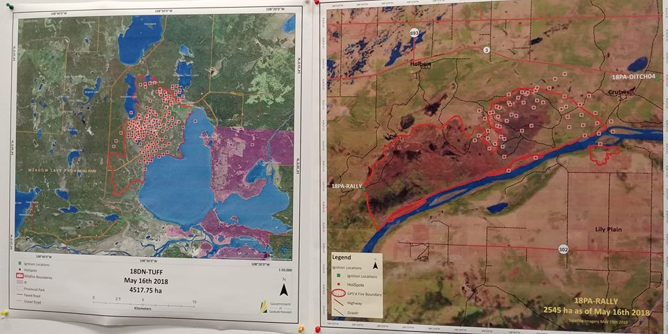 Eight active fires remain burning in Saskatchewan