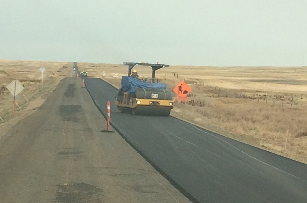 Highway construction activity in full swing in Southwest Saskatchewan