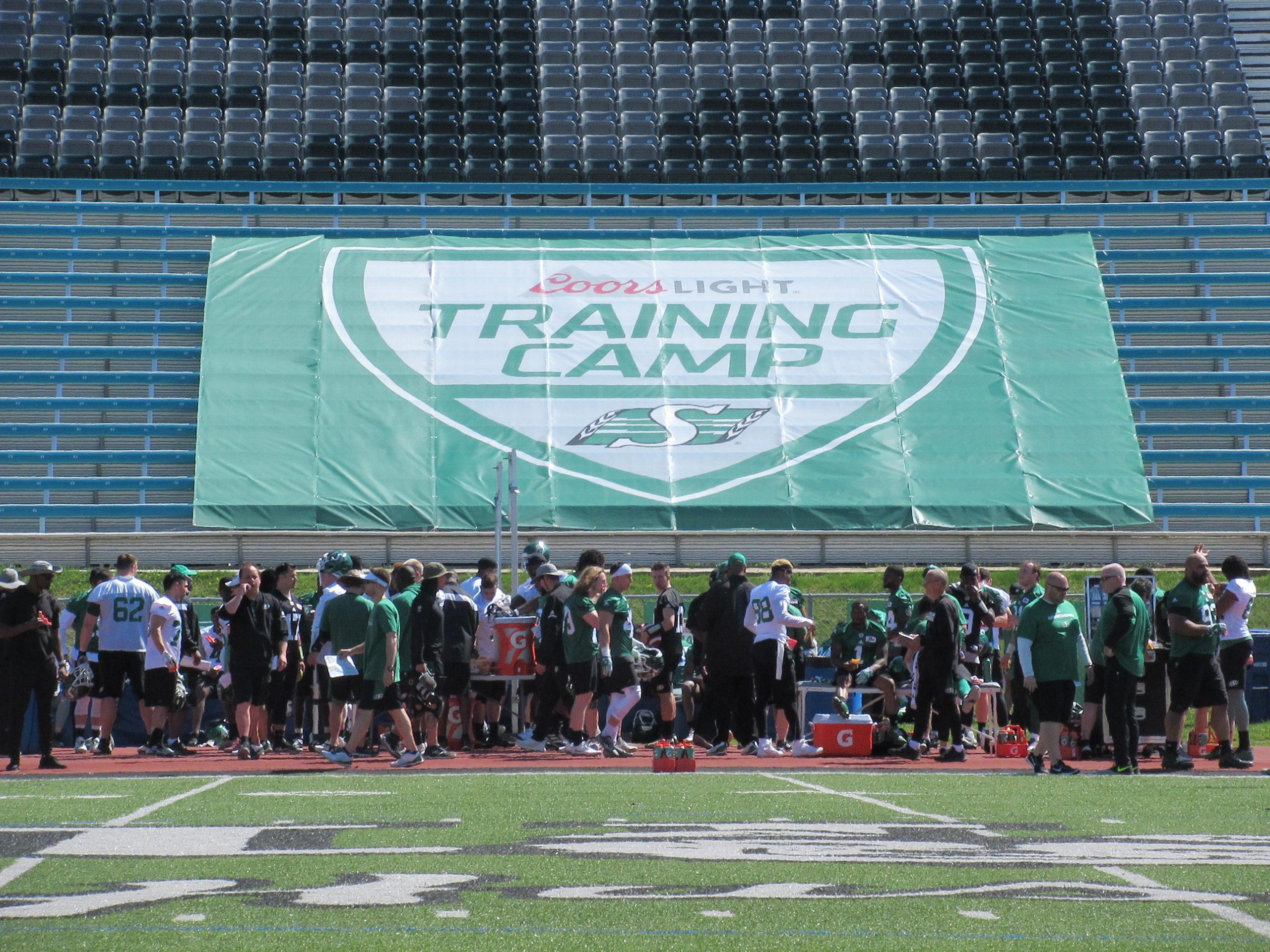 Roughriders Open Training Camp In Saskatoon