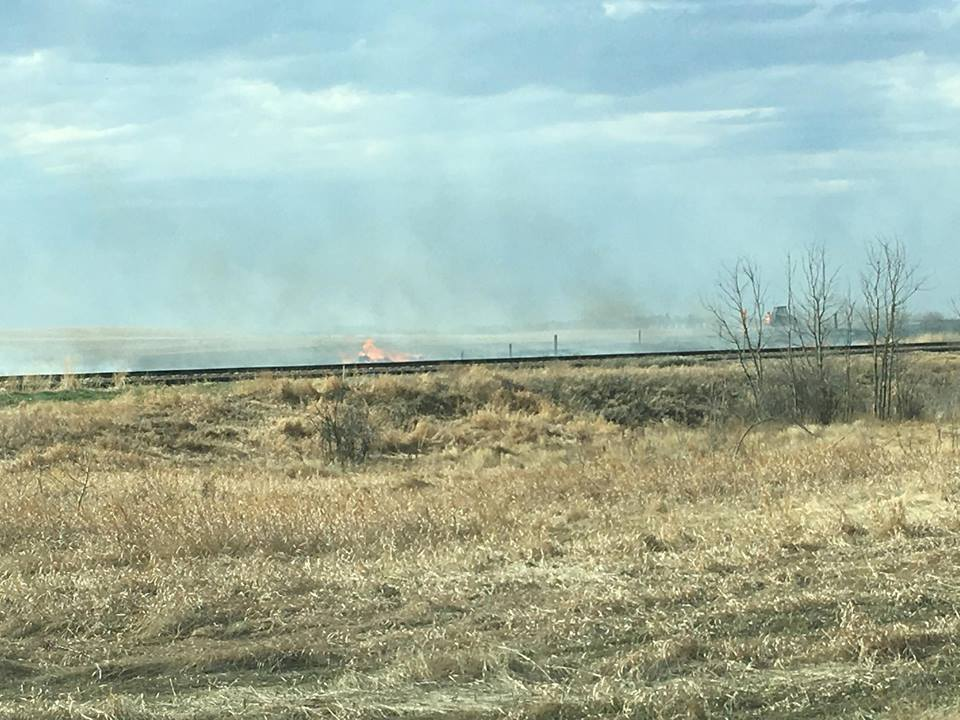 Grass fire lights up north of Silton