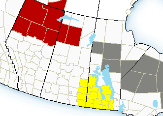 Severe Thunderstorm watches in place along Manitoba border