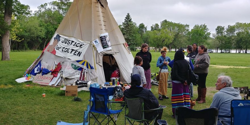 Protesters at legislative building ordered to remove their camp site