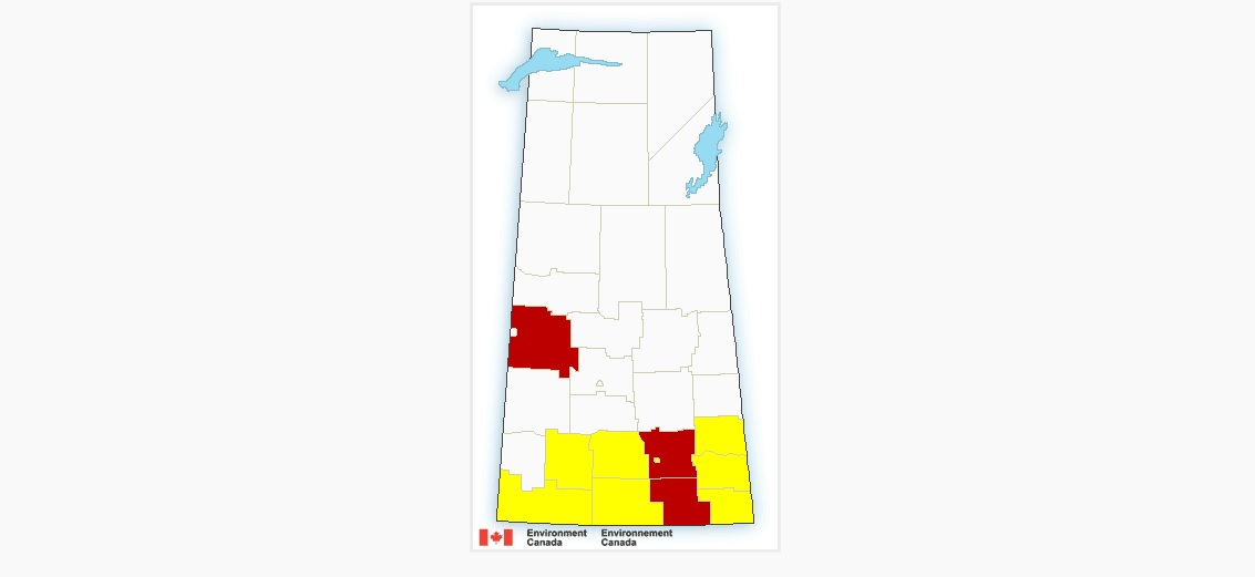 Severe thunderstorm warnings issued across southern Saskatchewan