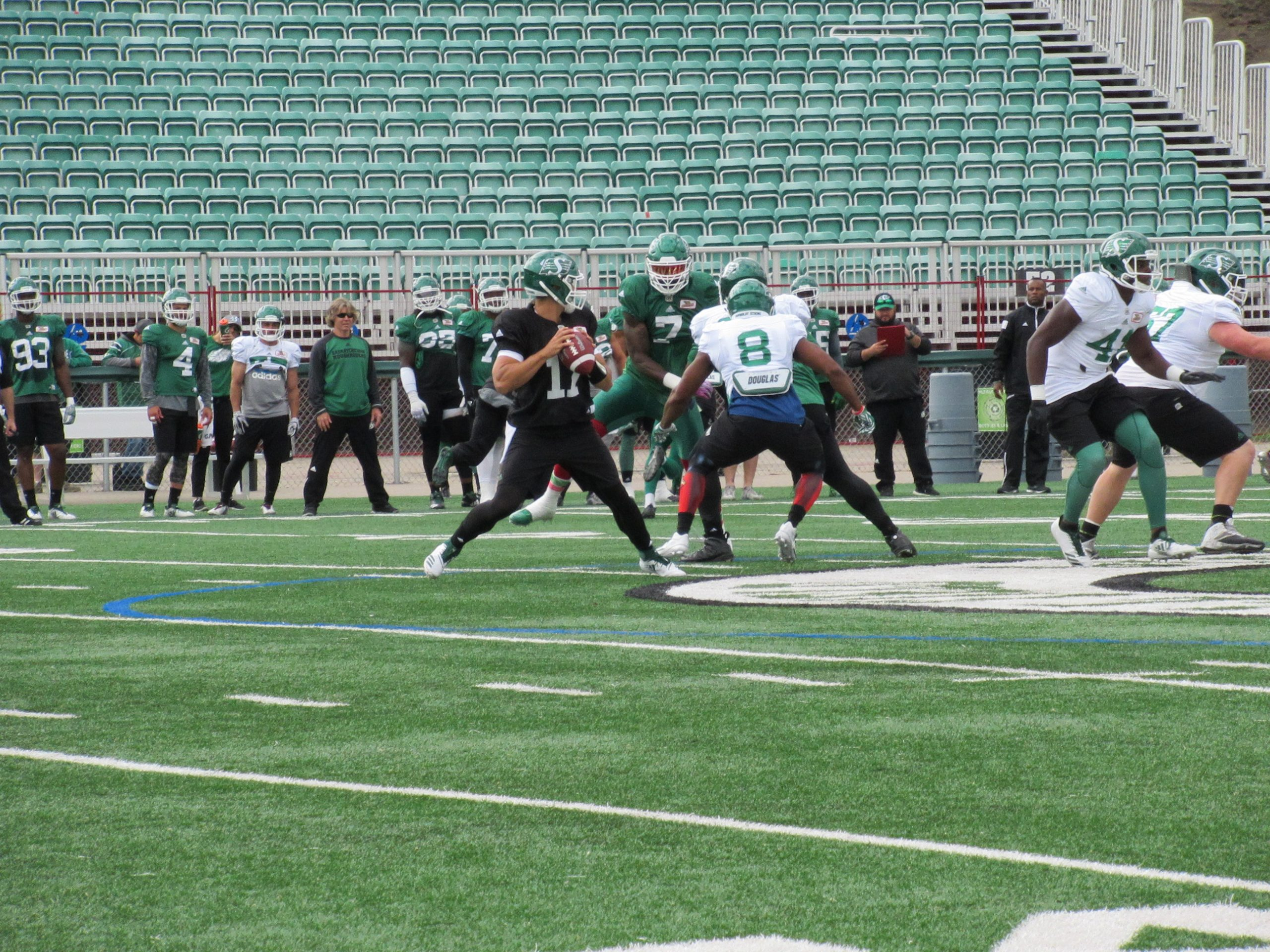 Green & White Day, Riders Field QB Trade Offers