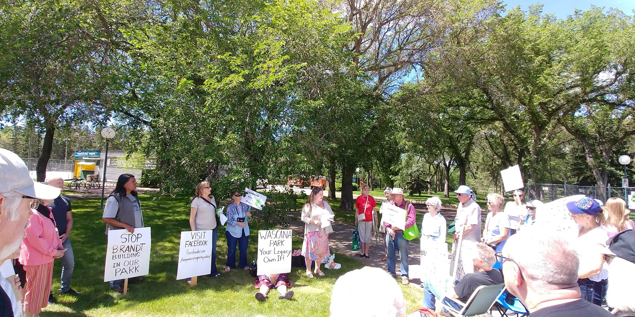 'No business in the park' continues protest of building in Wascana Park