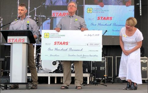 STARS receives $100,000 from Canadian Canola Growers Association
